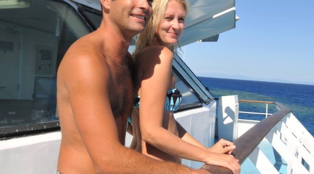 Couple enjoying the view of the Reef