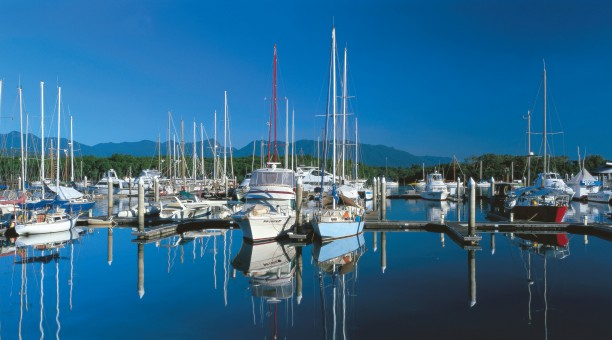 Port Douglas Marina is where all tours to the Great Barrier Reef from Port Douglas start