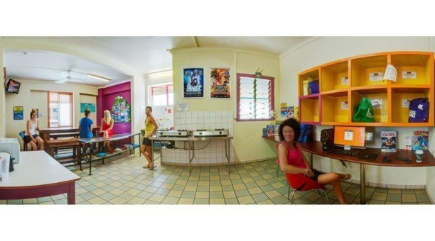 Common room at Coronas Backpackers