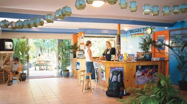 Calypso Backpacker Hostel reception