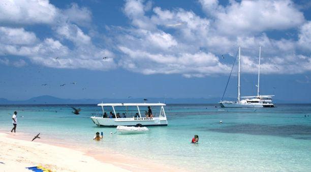 Beach of Michaelmas Cay