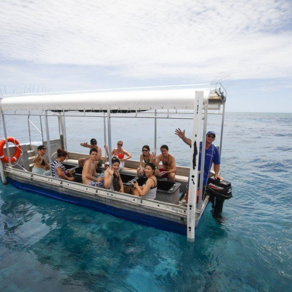 Great Barrier Reef glass bottom Boat