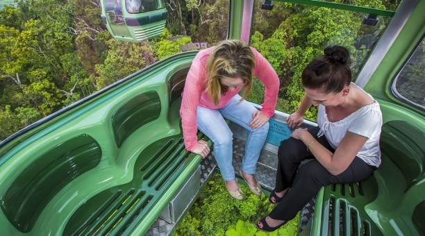 Upgrade to our Diamond view gondola, North Queensland Australia