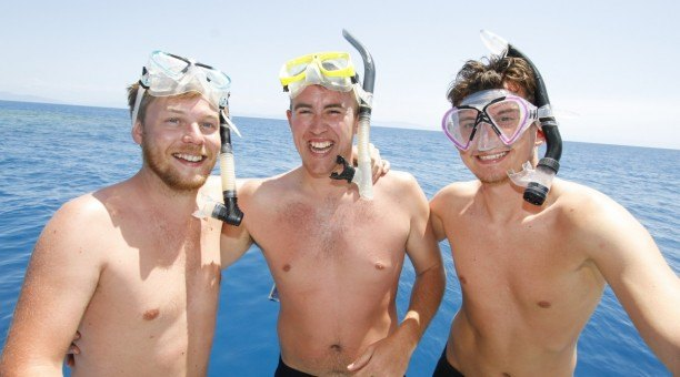Get ready to snorkel on the Great Barrier Reef, Cairns Australia
