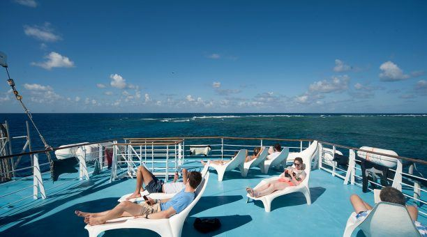 Soak up the sun on the generous sundeck