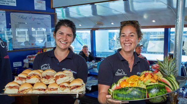 Fabulous breakfast onboard Reef Experience