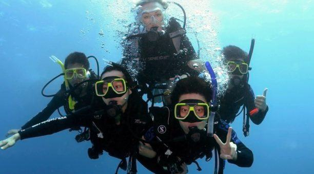 intro family dive with guide