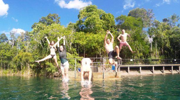 Jump for joy @ Lake Eacham