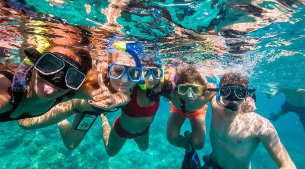 Snorkelling with mates