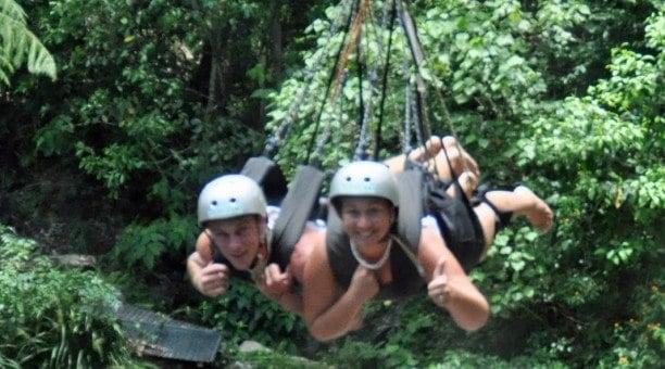 swing through the rainforest on the Minjin Swing North Queensland Australia