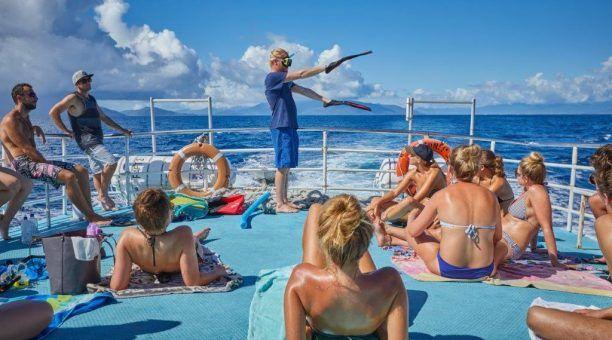 Snorkel Demonstration on Compass Cruises