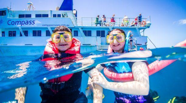 Fun snorkeling on the Barrier Reef