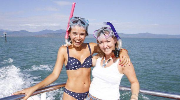Friends making memories on The Great Barrier Reef