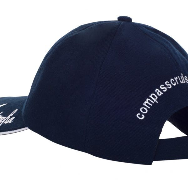 Compass Cruises Blue on Blue Cap Back