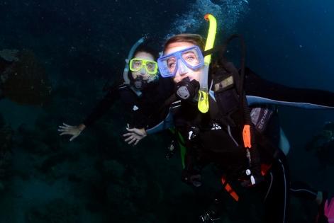 Night Scuba dive trips