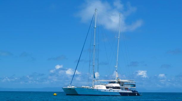 Snorkel off the beautiful Ocean Spirit catamaran