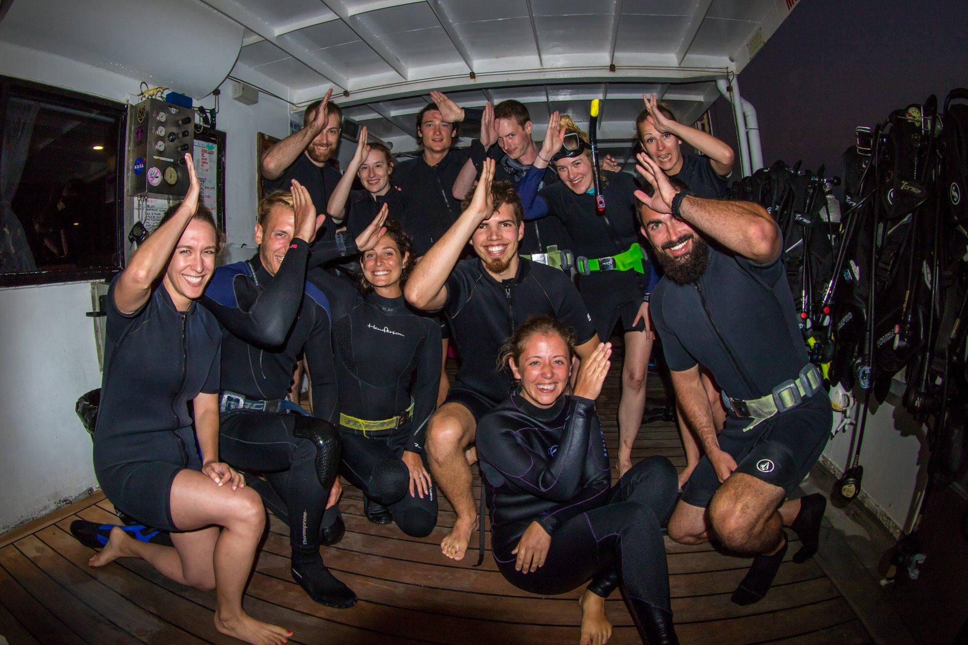 Join in the fun of a night dive!