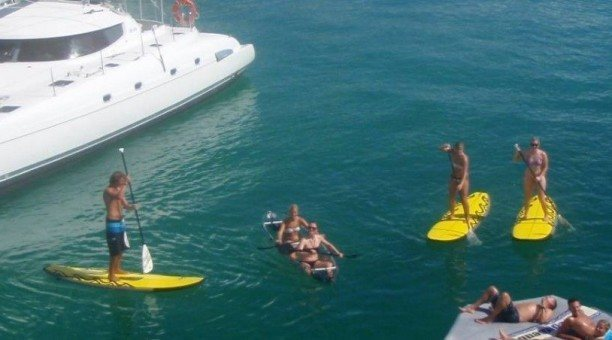Paddle board Whitsundays with On Ice Sailing
