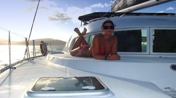 Relax on the deck Whitsunday Blue, Whitsundays Australia