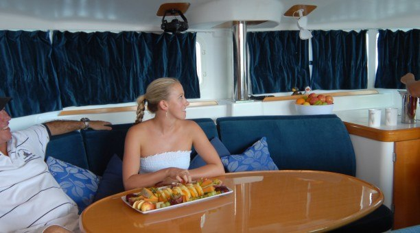 Onboard Whitsunday Blue sailing tour, Queensland Australia
