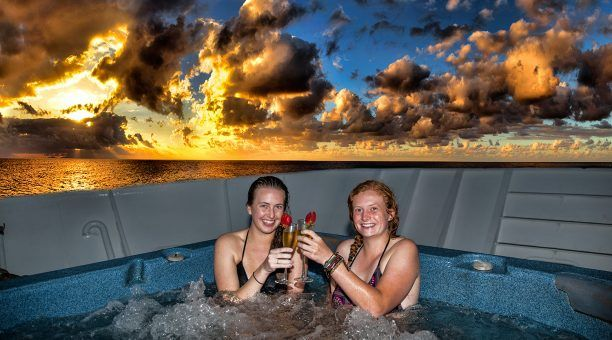 Enjoy a hot spa after a day on the Great Barrier Reef