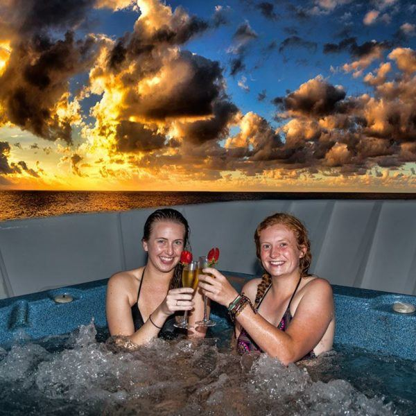 relax in our onboard hottub