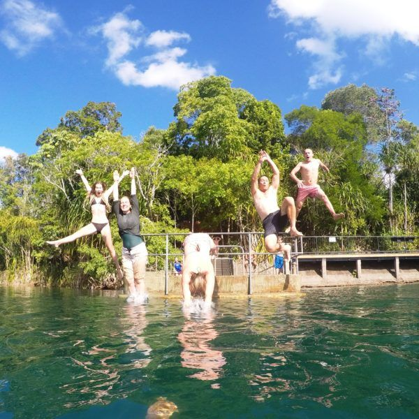 Lake Eacham fun!