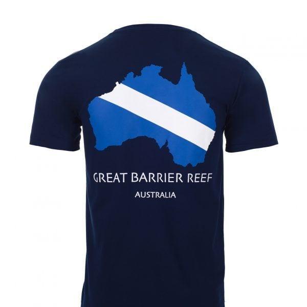 Reef Experience Dive Flag Tshirt Back