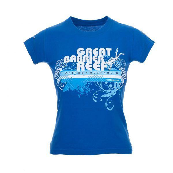 Ladies Great Barrier Reef Tshirt front