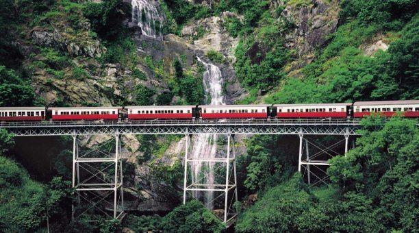 Kuranda Scenic Rail and waterfall