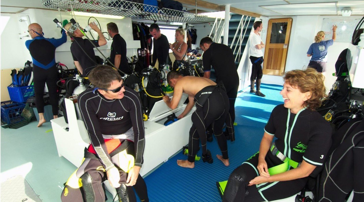 Onboard Spirit of Freedom, Coral Sea, Australia