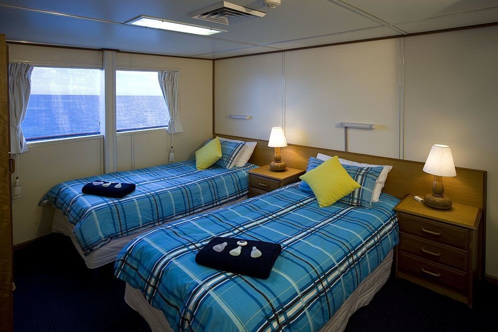 Twin Bed Stateroom, Reef Encounter