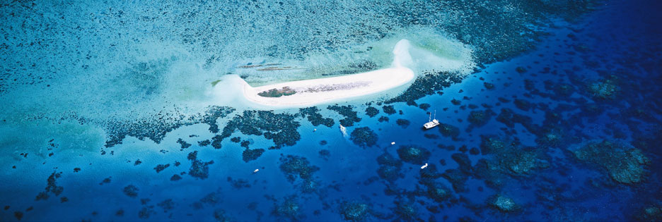 Bird's eye view of Michaelmas cay