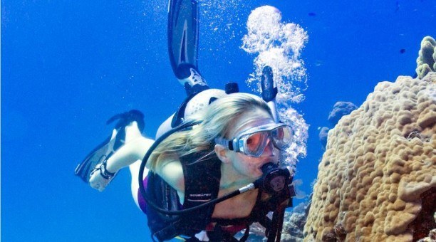 Scuba diving on the Reef