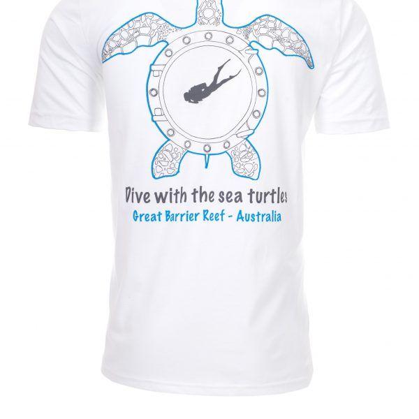Reef Encounter Turtle Tshirt Back