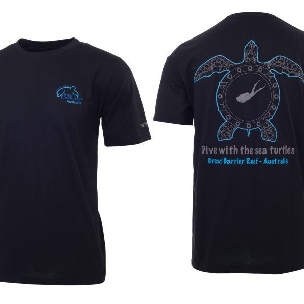 Reef Encounter Turtle Tshirt Black