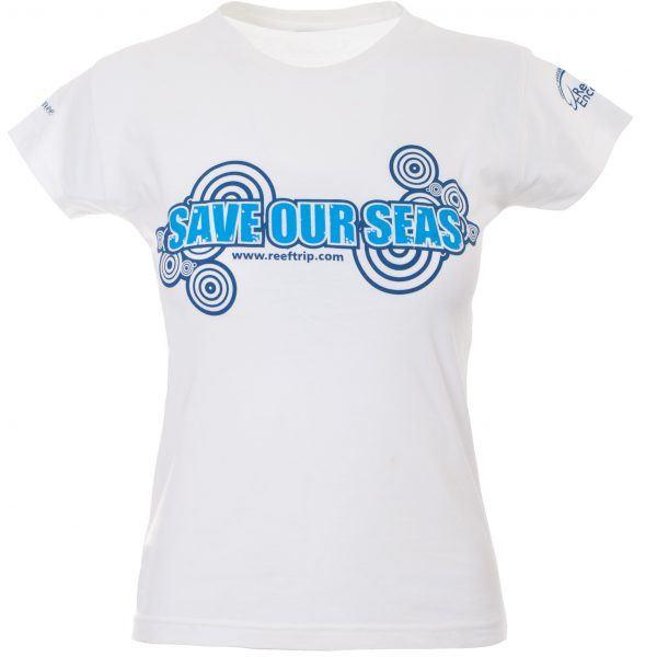 Ladies Save Our Seas Tshirt front