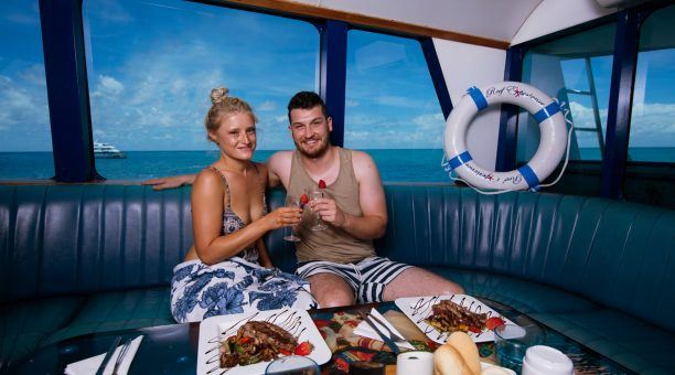 Delicious Reef Experience Top Deck Meals