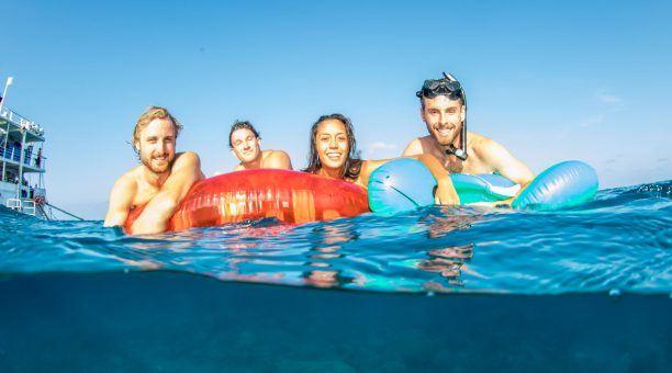 Floating on Australia's Great Barrier Reef