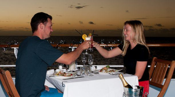 Proivate dining under the stars with Top Deck
