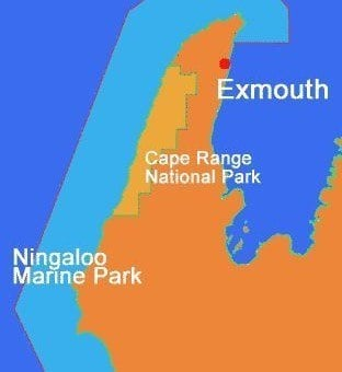 Ningaloo Reef Map