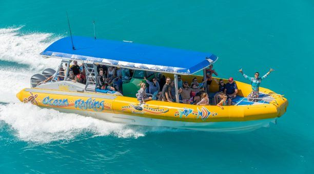 Zoom out to the Islands on the fast semi-rigid inflatable Ocean Raft