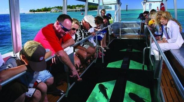 Glass Bottom boat tour, Green Island Cairns Australia