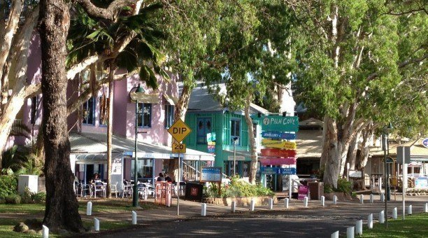 Palm Cove beach side shops