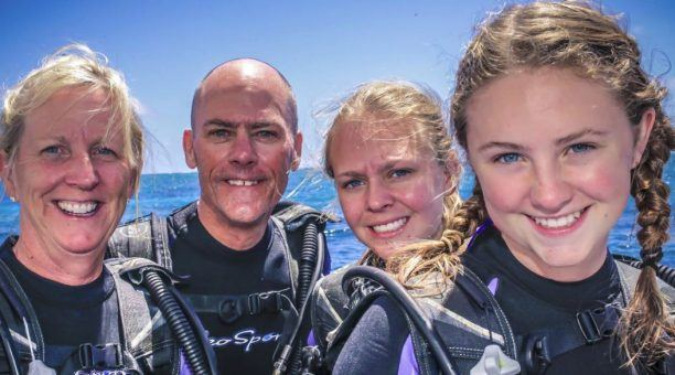 Families on the Great Barrier Reef