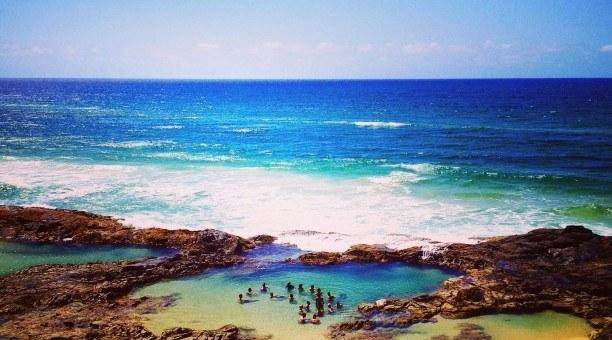 Champagne Pools, Fraser Island Queensland Australia