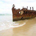 Maheno Shipwreck, Fraser Island, Queensland, Australia