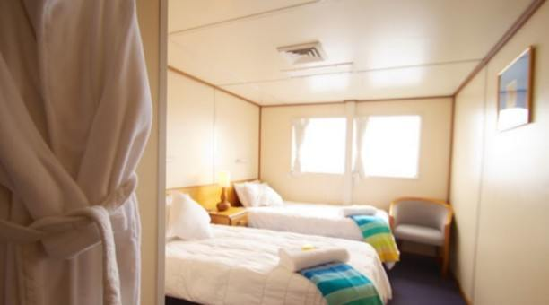 Twin Bed 'Top Deck Club' Cabin, Reef Encounter