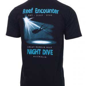 Reef Encounter Night Dive Tshirt Back