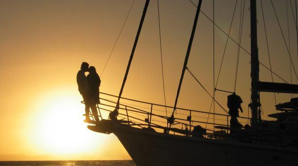 Enjoy amazing Sunsets over the Reef and Whitsunday Islands
